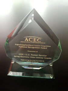 Las Vegas firms honored for Spring Mountains Visitor Gateway as part of 2016 Engineering Excellence Awards competition