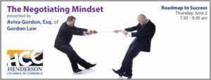 'The Negotiating Mindset' the topic of the next Roadmap to Success