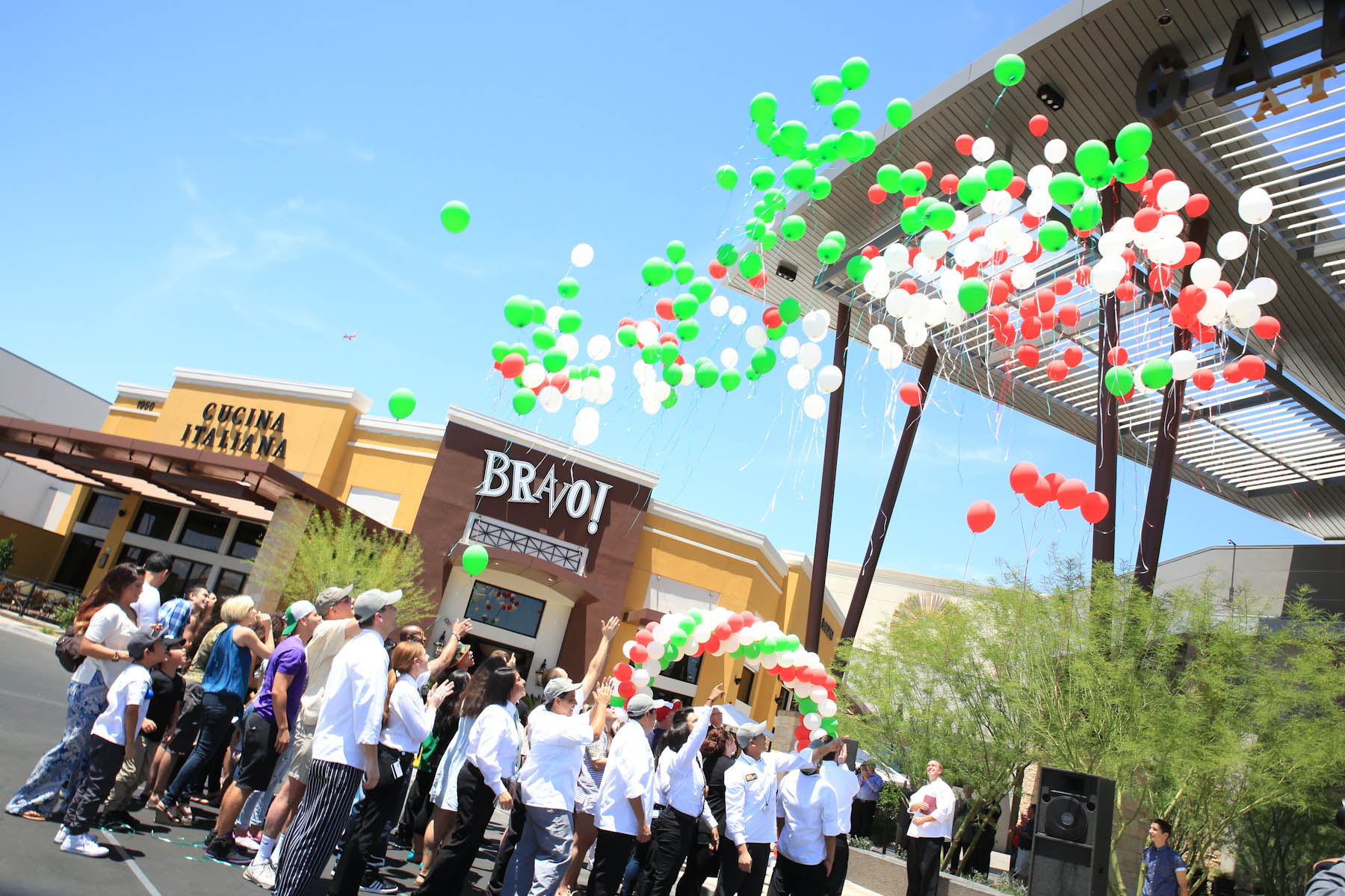 Last year's Bravo! Cucina Italiana grand opening at Galleria at Sunset