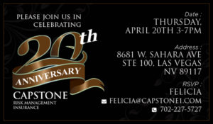Capstone Brokerage to celebrate 20 years in industry